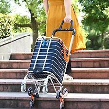 Folding Shopping Cart Portable Grocery Utility Lightweight Stair Climbing Car.