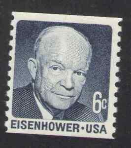 US. 1401. 6c. Eisenhower. Coil Single. Dull Gum. MNH. 1970