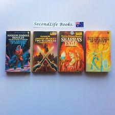 x4 Vintage DARKOVER Novels ~ Marion Zimmer Bradley. Sci Fi Fantasy Free Amazons.