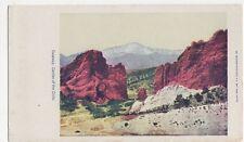 USA, Gateway, Garden of The Gods Early Postcard, B241