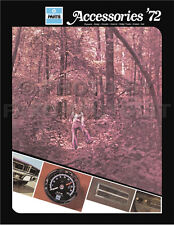 1972 Chrysler Accessories Parts Catalog Imperial Newport New Yorker Accessory