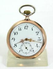 Antike ZENITH Grand Prix Paris 800 Silber TASCHENUHR swiss Pocket WATCH 1900