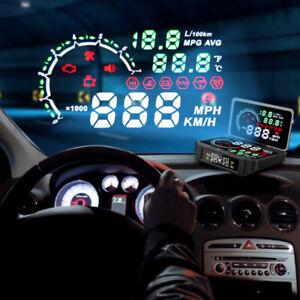 Car GPS HUD Speedometer Overspeed TPMS State Display Panel Digital Meter