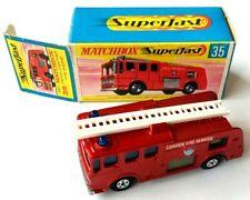 MATCHBOX No. 35 MERRYWEATHER FIRE ENGINE METALLIC RED