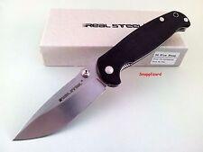 Real Steel H6 Blue Sheep 7762 Folding Pocket Knife EDC Sandvik 14C28N Steel
