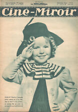 1935 FRENCH MAGAZINE SHIRLEY TEMPLE_EDWIGE FEUILLERE_FRED ASTAIRE