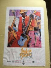 1996 Beale Crossroads of Americas BB Kings Blue Promo Poster
