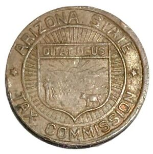 Vintage Arizona State Tax Commission Token Sales 1 Correct Payment