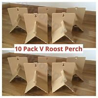 10 x V Plastic Roost Perches For Budgies, Finches, Canaries, Pigeons, Bird Perch