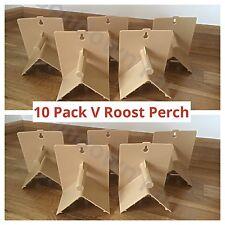 10 X V in plastica ROOST posatoi per parrocchetti, fringuelli, Canarie, Piccioni, Bird pesce persico