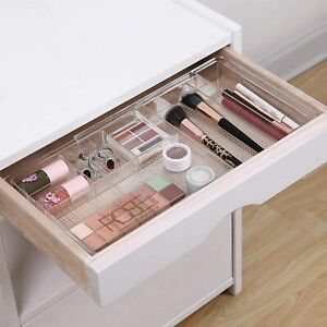 1 Expandable COMPUTER DESK Drawer Makeup Organizer Adjustable Clear Storage Tray