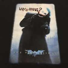 Batman Joker Black Medium T-Shirt Why So Serious DC Super Hero Dark Knight City
