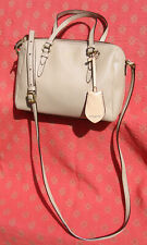 Coach Mini BENNETT PEYTON Beige Nude Saffiano Leather Satchel Crossbody Purse