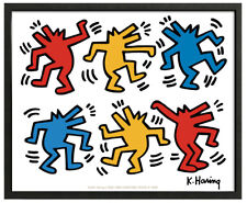 1987 TV Keith Haring Abstract Contemporary Figurative Print Poster 23x16