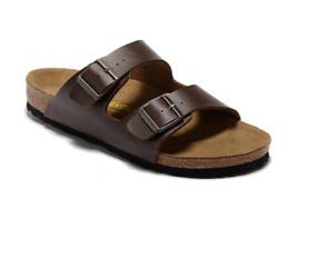 BIRKENSTOCK Women & Men (Unisex) ARIZONA Two Straps BROWN Sandals ~Size 40 to 46