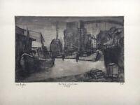 Herbert Malchow 1942 - 2015 Mecklenburg Im Hafen Wismar Ostsee Schiffe