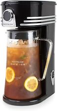 Ice Tea Coffee Maker Automatic Iced Drinks Machine With Brewing System 3Qt Black