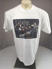 Vintage 2001 Backstreet Boys white Custom Face In Center Pop music T-shirt XL