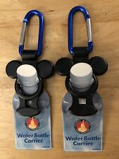 2 Walt Disney World Park Water Bottle Holder Carriers Mickey Mouse New Nwt