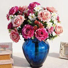 11 Heads Artificial Silk Rose Flowers Bridal Hydrangea Party Wedding Decor Home