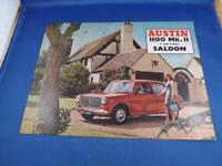 AUSTIN 1100 MK II SALOON SALES BROCHURE CAR ADVERTISING 2 & 4 DOOR BRITISH MOTOR