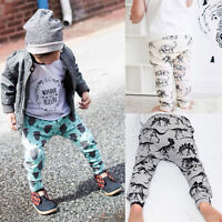Child Kids Toddler Baby Boy Girls Long Harem Pants Trousers Leggings Tights 0-4Y