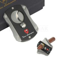 Double Guillotine Cigar Cutter Scissor Stainless Steel Blades Cigarette Tool
