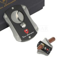 Stainless Steel Cigar Cutter 2 Blades Dual Guillotine Scissors with Gift Box