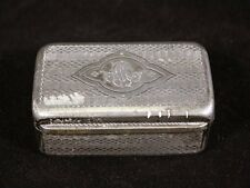 boite à tabac en métal argenté