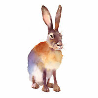 Hare Watercolour Large Wall Art Print 18X24 In