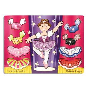 BALLERINA DRESS UP ~ PEG TRAY Jigsaw Puzzle Kids 2+yrs ~ Melissa & and Doug ~ BN