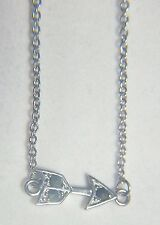 UNIQUE STERLING SILVER NECKLACE WITH ATTACHED ARROW DECORATED WITH MARCASITES