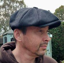 Peaky Blinders Grey Wool Hat Flat Cap Button Size M Newsboy Baker Boy Gatsby