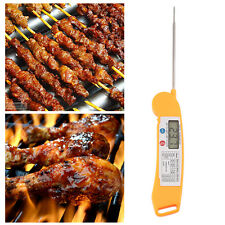 Fast Instant Read Digital Barbecue BBQ Meat Food Thermometer W/Folding Probe JL