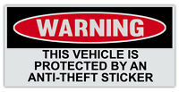 Funny Warning Bumper Sticker Decal - Vehicle Protected By Anti-Theft Sticker