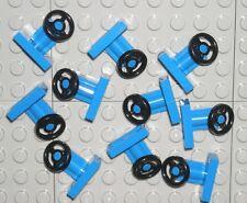 LEGO 10 BLUE CITY CAR TRUCK STEERING WHEELS NEW
