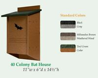 40 Colony LARGE BAT HOUSE Backyard Mosquito Control USA Handmade Recycled Poly