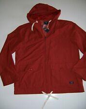 NEW ABERCROMBIE & FITCH Men's Full Zip Windbreaker Rust NWT Jacket L Hoodie