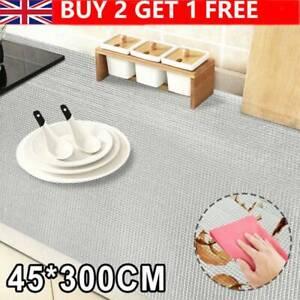 45*300cm Non-Slip Drawer Mat Shelf Liner Cabinet Storage Pad Kitchen Cupboard