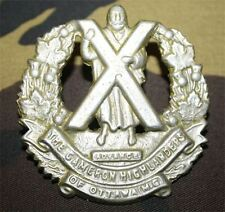 cap badge du régiment canadien Cameron highlanders of Ottawa