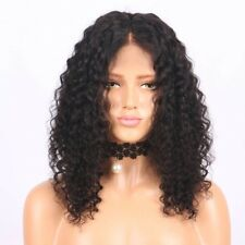 8A 150% Density Unprocessed Brazillian 13x6  Lace Front Curly Human Hair Wig