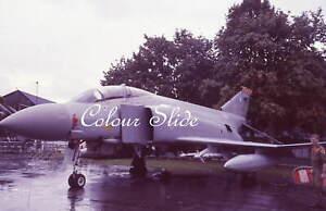 RAF Phantom FGR2 XV482 92 Sqn 'W', 9.89, Colour Slide, Aviation Aircraft