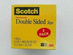 "2 Rolls Scotch Double-Sided Tape, 1/2"" x 900"", 1"" core, Item #665-DSCOUNTED"