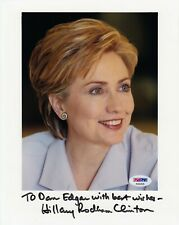 Hillary Rodham Clinton Signed Photograph 8x10 PSA/DNA Certified (A8053)