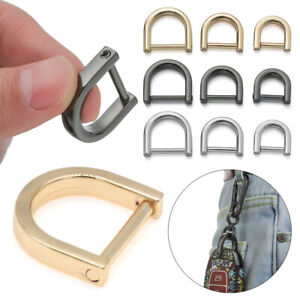 Detachable Bag Strap Accessories D Ring Buckle Open Screw Leather Craft Clasp
