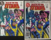 TALES OF THE TEEN TITANS #84 COVER COLOR GUIDE + 3M ART SIGNED w/COA
