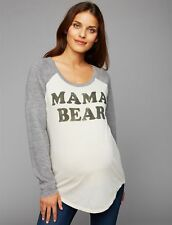 9f016cfa a Pea in The Pod Chaser Mama Bear Maternity Tee Shirt Size S