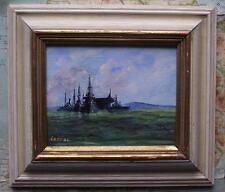 Royal Navy Fleet Southampton F : Original Impressionist Oil Painting Carlos Geri