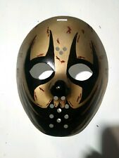 CUSTOM PAINTED HOCKEY MASK Devil'z Night 2014 Boondox Style Gold & Back Horror