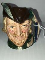 Vintage Royal Doulton Small Toby Mug Character Jug Robin Hood D 6534 Nice!!